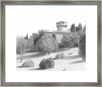 Castle At Volterra Framed Print