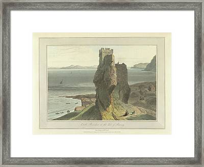Castle Broichin On The Isle Of Rasay Framed Print by British Library