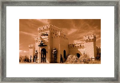 Framed Print featuring the photograph Castle By The Road by Rodney Lee Williams