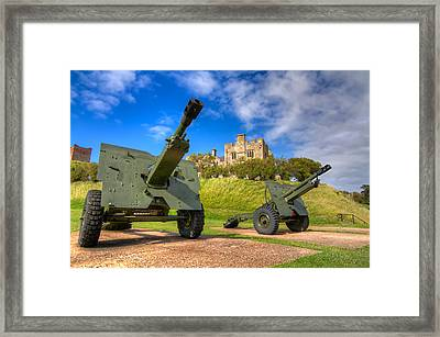 Framed Print featuring the photograph Castle Cannons by Tim Stanley