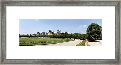 Castle, Chateau De Fontainebleau Framed Print by Panoramic Images