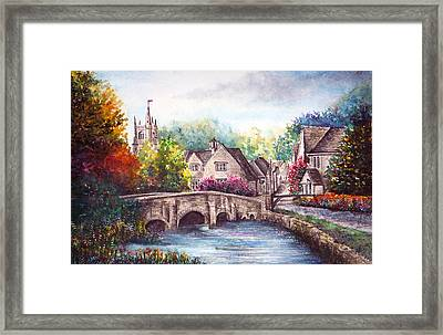 Castle Combe Framed Print by Ann Marie Bone