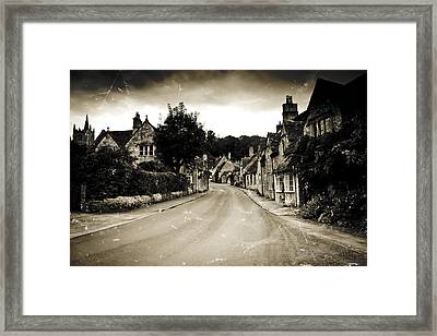 Framed Print featuring the photograph Castle Combe  by Stewart Scott