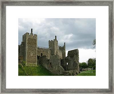 Castle Curtain Wall Framed Print by Ann Horn