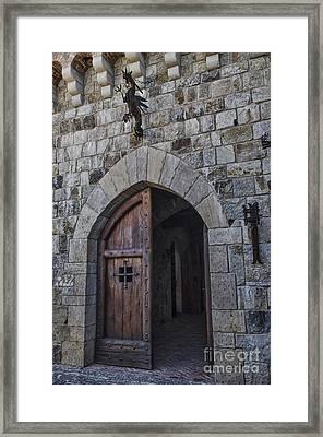 Castle Door Framed Print by Judy Wolinsky