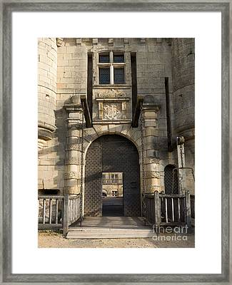 Framed Print featuring the photograph Castle Drawbridge Entry by Paul Topp