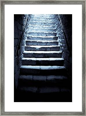 Castle Dungeon Steps Framed Print by Georgia Fowler