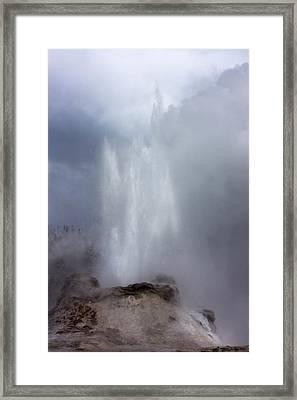 Castle Geyser In June Framed Print