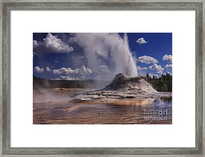 Castle Geyser Framed Print