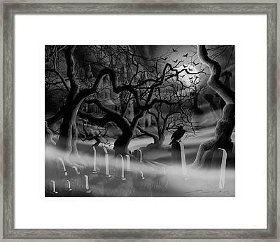 Castle Graveyard Framed Print by James Christopher Hill