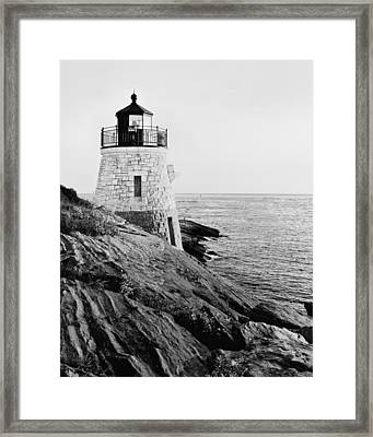 Castle Hill Bw 1 Framed Print by Marianne Campolongo