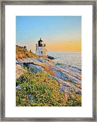 Castle Hill Lighthouse 1 Newport Framed Print by Marianne Campolongo
