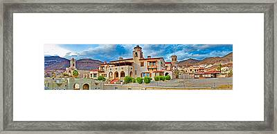 Castle In A Desert, Scottys Castle Framed Print by Panoramic Images