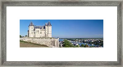 Castle In A Town, Chateau De Samur Framed Print by Panoramic Images