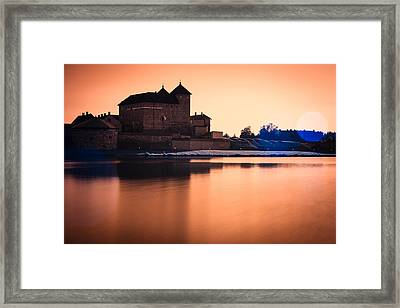 Castle In Artistic Infrared Image Framed Print by Teemu Tretjakov