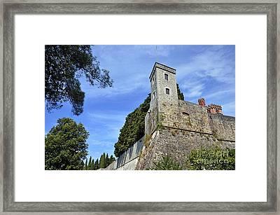Castle In Chianti Framed Print