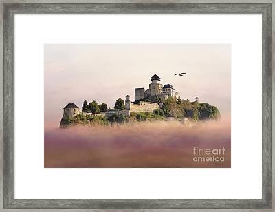 Castle In The Air IIi. - Trencin Castle Framed Print by Martin Dzurjanik