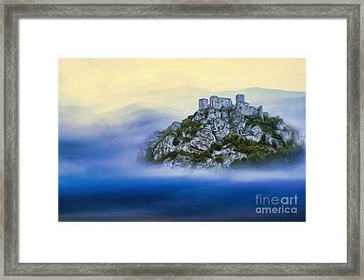 Castle In The Air V. - Strecno Castle Framed Print by Martin Dzurjanik