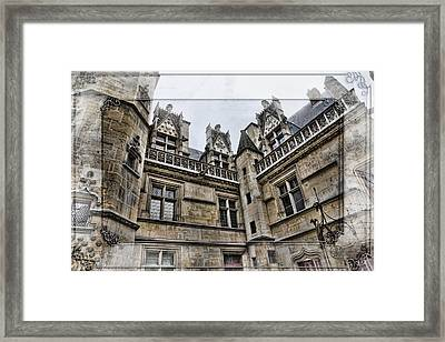 Castle In The Clouds Paris France Framed Print by Evie Carrier