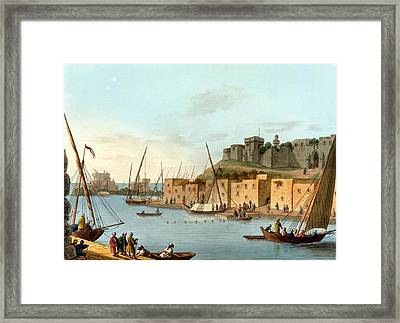 Castle In The Island Of Torosa Framed Print by Luigi Mayer