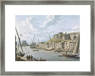 Castle In The Island Of Tortosa, 1805 Framed Print by William Watts
