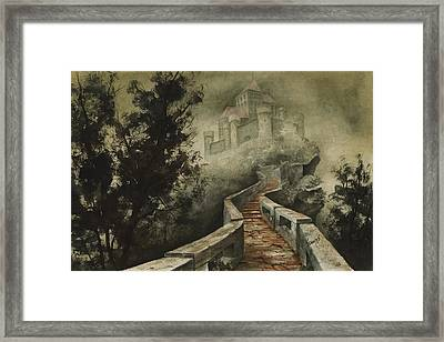 Castle In The Mist Framed Print by Sam Sidders