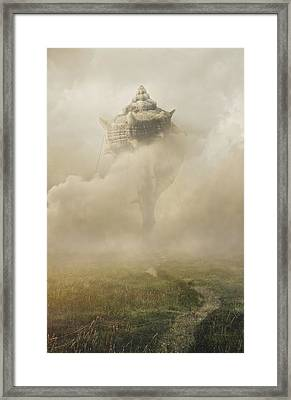 Castle In The Sky Framed Print by Jaroslaw Blaminsky