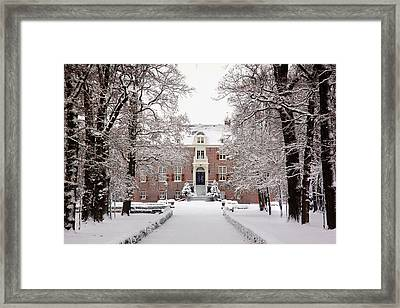 Castle In Winter Dress  Framed Print