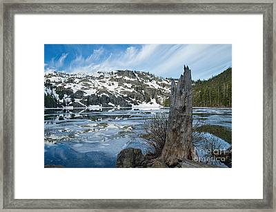 Castle Lake At Dawn Framed Print