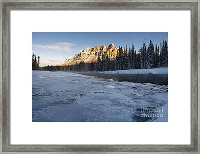 Castle Mountain Sunrise Framed Print by Ginevre Smith