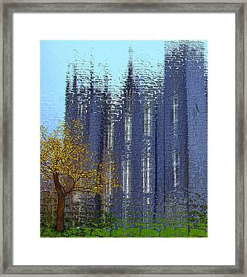 Framed Print featuring the digital art Castle by Nina Bradica