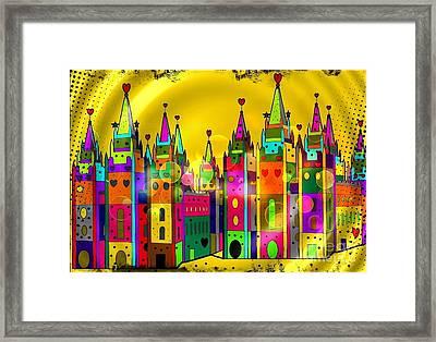 Castle Of Dreams By Nico Bielow Framed Print
