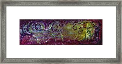 Castle Of Eden Framed Print by Luis  Navarro