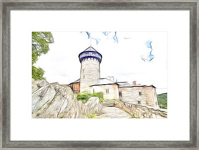 castle of the holy order - Sovinec castle Framed Print by Michal Boubin