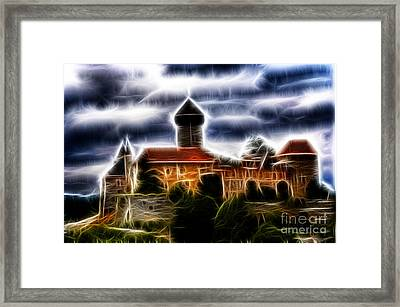 castle of the holy order - Sovinec Framed Print