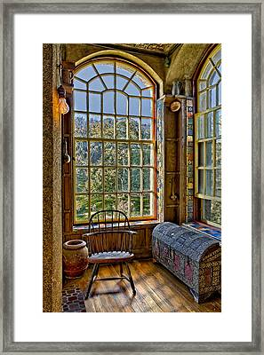 Castle Office Framed Print by Susan Candelario