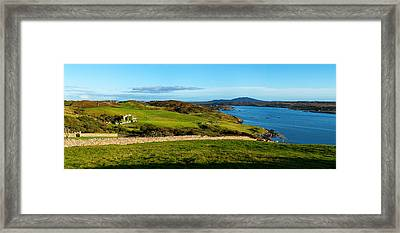 Castle On A Hill, Clifden Castle Framed Print by Panoramic Images
