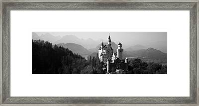 Castle On A Hill, Neuschwanstein Framed Print by Panoramic Images