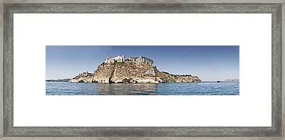 Castle On An Island, Castello Framed Print