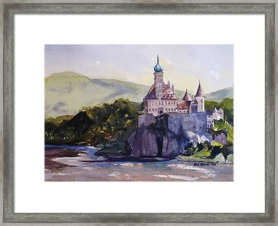 Castle On The Danube Framed Print by Kris Parins