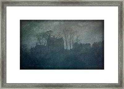 Castle On The Hill Framed Print by Liz  Alderdice