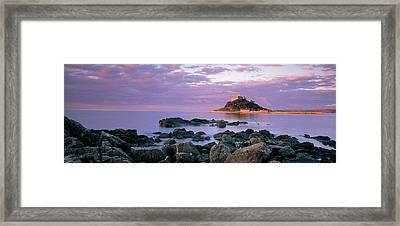 Castle On Top Of A Hill, St Michaels Framed Print