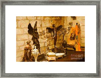 Castle Ornaments Still Life Framed Print by Eduardo Mora