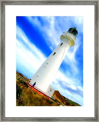 Castle Point Lighthouse Framed Print