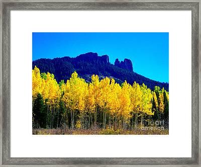 Autumn Castle Rock Aspens Framed Print