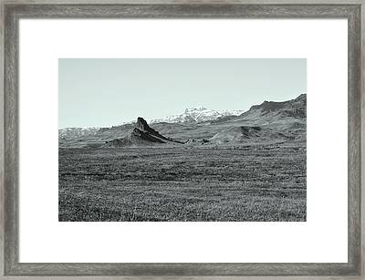 Castle Rock In Black And White Framed Print by Lisa Holland-Gillem