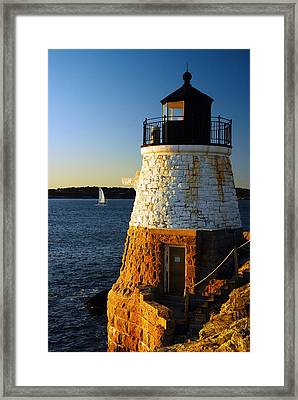 Framed Print featuring the photograph Castle Rock Lighthouse by James Kirkikis