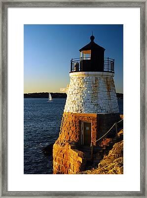 Castle Rock Lighthouse Framed Print by James Kirkikis