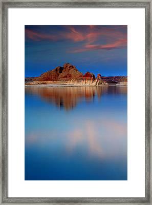 Castle Rock Reflections Framed Print by Eric Foltz