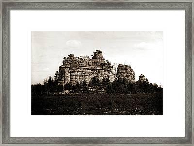 Castle Rocks, Camp Douglass Sic, Wis, Rock Formations Framed Print